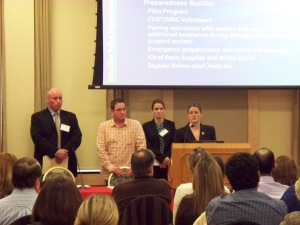 The 4 members of Brookline P.D.'s special populations partnering program. Image: BitcoDavid