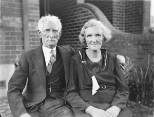 Unidentified Old Couple - 1934 by Sam Hood