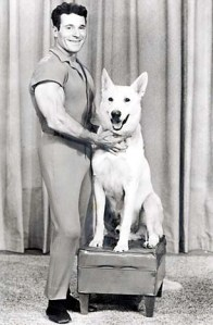 LaLanne also loved dogs, and his white Shepherd was a regular feature on his TV program. Image: Skeptical Eye