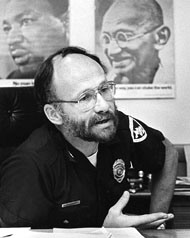 Any cop who has pictures of MLK and Ghandi on his wall, is OK in my Book Photo: Improving Police