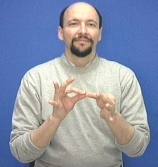"Sign for ""Interpret"" In ASL, one would add the sign for ""person"" to signify an interpreter. Image: LifePrint.com"