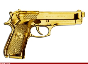 Here's one for the stylish 1%er. Self Defense for the man who has everything. Image: Parky Pundit