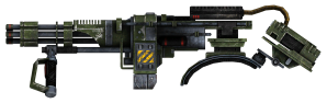 OK. Now I'm pretty sure the Founding Fathers never intended us to walk around with one of these! Image: Fallout Wiki