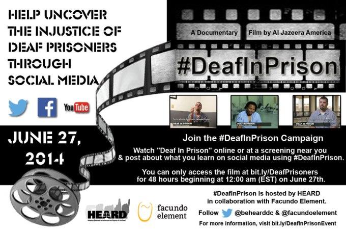 #DeafInPrison Campaign